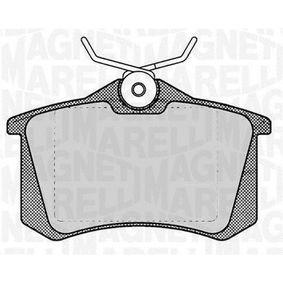 Bremsbelagsatz, Scheibenbremse Höhe 1: 53mm, Dicke/Stärke 1: 17mm mit OEM-Nummer 1K0 698 451 M