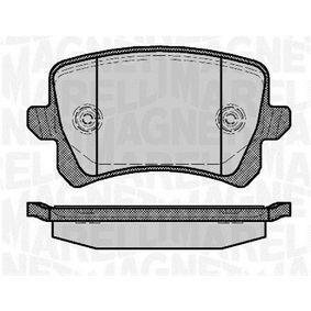 Bremsbelagsatz, Scheibenbremse Höhe 1: 56,3mm, Dicke/Stärke 1: 17mm mit OEM-Nummer 3C0698451C