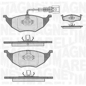 Bremsbelagsatz, Scheibenbremse Höhe 1: 48,1mm, Höhe 2: 49,8mm, Dicke/Stärke 1: 14,3mm mit OEM-Nummer 8Z0698151