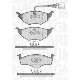 Bremsbelagsatz, Scheibenbremse Höhe 1: 48,1mm, Höhe 2: 49,8mm, Dicke/Stärke 1: 14,3mm mit OEM-Nummer 8Z0 698 151