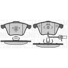 Bremsbelagsatz, Scheibenbremse Höhe 1: 72,9mm, Dicke/Stärke 1: 20mm mit OEM-Nummer 8E0-698-151C
