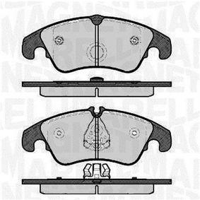 Bremsbelagsatz, Scheibenbremse Höhe 1: 72,9mm, Höhe 2: 73,5mm, Dicke/Stärke 1: 19mm mit OEM-Nummer 8K0 698 151H