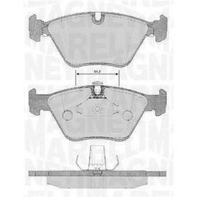 Bremsbelagsatz, Scheibenbremse Höhe 1: 63,3mm, Dicke/Stärke 1: 20mm mit OEM-Nummer 34 11 2 157 588