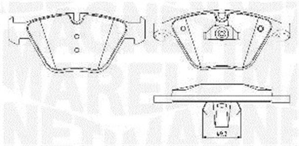 MAGNETI MARELLI  363916060582 Bremsbelagsatz, Scheibenbremse Höhe 1: 68,3mm, Dicke/Stärke 1: 20,2mm, Dicke/Stärke 2: 18,8mm