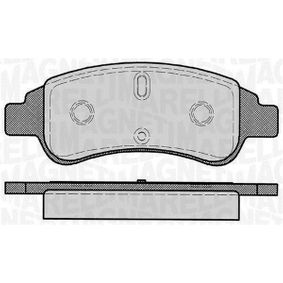 Brake Pad Set, disc brake Height 1: 51,6mm, Thickness 1: 19mm with OEM Number E 172 124