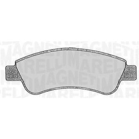 Brake Pad Set, disc brake Height 1: 51,6mm, Thickness 1: 19mm with OEM Number 16 122 939 80
