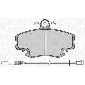 Bremsbelagsatz, Scheibenbremse Höhe 1: 64,8mm, Dicke/Stärke 1: 18mm mit OEM-Nummer 7701 210 131