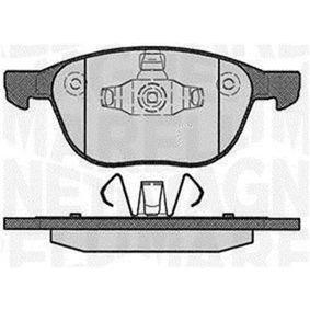 Bremsbelagsatz, Scheibenbremse Höhe 1: 62,3mm, Höhe 2: 67mm, Dicke/Stärke 1: 18mm mit OEM-Nummer MECV6J-2K021-AA
