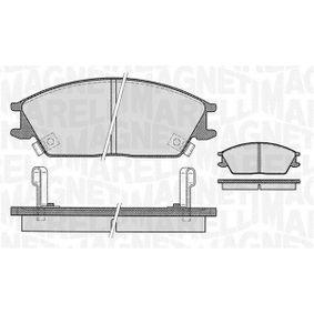 Bremsbelagsatz, Scheibenbremse Höhe 1: 49mm, Dicke/Stärke 1: 15,5mm mit OEM-Nummer 58202-28A00