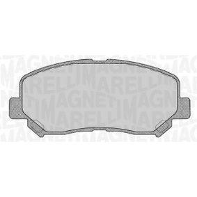 Bremsbelagsatz, Scheibenbremse Höhe 1: 61,2mm, Dicke/Stärke 1: 21mm mit OEM-Nummer 68225170AA
