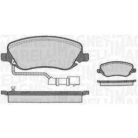 Bremsbelagsatz, Scheibenbremse Höhe 1: 59,5mm, Dicke/Stärke 1: 18,9mm mit OEM-Nummer 77362272