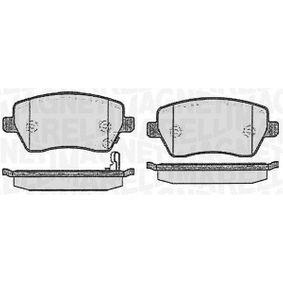 Bremsbelagsatz, Scheibenbremse Höhe 1: 52,4mm, Dicke/Stärke 1: 17mm mit OEM-Nummer 93 192 962