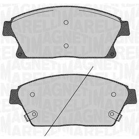 Bremsbelagsatz, Scheibenbremse Höhe 1: 61,1mm, Dicke/Stärke 1: 18,8mm mit OEM-Nummer 13 412 809