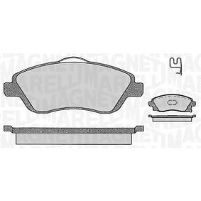 Brake Pad Set, disc brake Height 1: 51,4mm, Height 2: 55,7mm, Thickness 1: 17mm with OEM Number 16 05 317