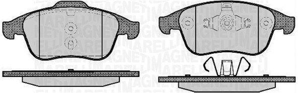 MAGNETI MARELLI  363916060670 Bremsbelagsatz, Scheibenbremse Höhe 1: 63mm, Höhe 2: 68,6mm, Dicke/Stärke 1: 18mm