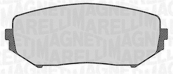 MAGNETI MARELLI  363916060494 Bremsbelagsatz, Scheibenbremse Höhe 1: 54,7mm, Dicke/Stärke 1: 17mm