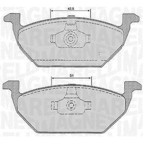 Bremsbelagsatz, Scheibenbremse Höhe 1: 54,7mm, Dicke/Stärke 1: 19,5mm mit OEM-Nummer 1S0 698 151C
