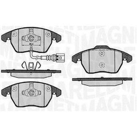 Kit de plaquettes de frein, frein à disque Hauteur 1: 66mm, Hauteur 2: 71,3mm, Épaisseur 1: 20,1mm avec OEM numéro 3C0698151J