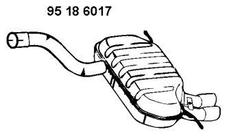 EBERSPÄCHER  95 18 6017 Endschalldämpfer Länge: 1000mm, Länge: 1000mm