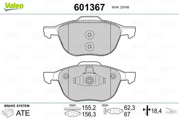 Bremsbelagsatz VALEO 601367 Bewertung