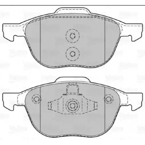 Bremsbelagsatz, Scheibenbremse Breite 2: 156,3mm, Breite: 155,2mm, Höhe 2: 67mm, Höhe: 62,3mm, Dicke/Stärke: 18,4mm mit OEM-Nummer MECV-6J2K021-AA