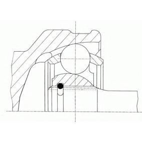 Gelenksatz, Antriebswelle Außenverz.Radseite: 24, Innenverz. Radseite: 22 mit OEM-Nummer 39100-M7270