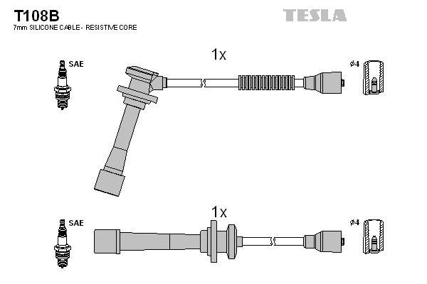 TESLA  T108B Juego de cables de encendido