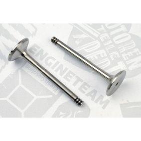 Auslaßventil und Einlaßventil für VW TOURAN (1T1, 1T2) 1.9 TDI 105 PS ab Baujahr 08.2003 ET ENGINETEAM Auslaßventil (VE0063) für