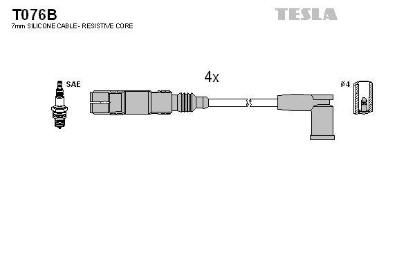 Juego de cables de encendido TESLA T076B 22105813606577360657