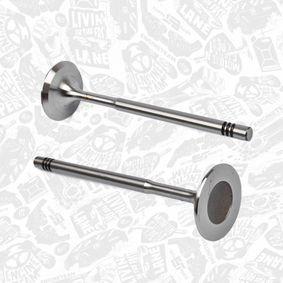 Einlassventil Länge: 100,9mm, Ventilteller-Ø: 29,5mm, Ventilschaft-Ø: 6mm mit OEM-Nummer 036 109 601 S