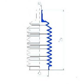 Bellow, steering Inner Diameter 2: 10mm, Inner Diameter 2: 46mm with OEM Number 60724083