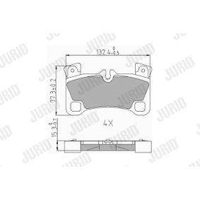 Bremsbelagsatz, Scheibenbremse Höhe 1: 81,8mm, Dicke/Stärke: 16,2mm mit OEM-Nummer 955.352.939.61