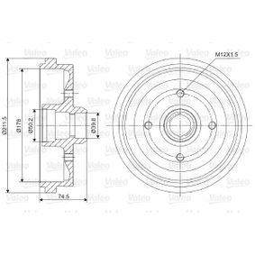 Bremstrommel Br.Tr.Durchmesser außen: 211,5mm mit OEM-Nummer 823.501.615B