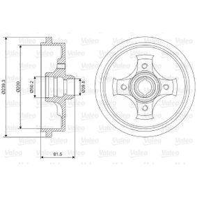 Bremstrommel Br.Tr.Durchmesser außen: 239,3mm mit OEM-Nummer 1H0 501 615A
