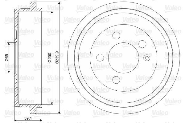 VALEO  237099 Bremstrommel Br.Tr.Durchmesser außen: 239,9mm