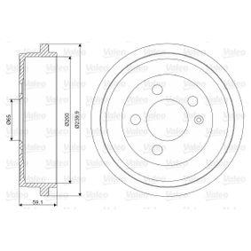 Bremstrommel Br.Tr.Durchmesser außen: 239,9mm mit OEM-Nummer 6Q0609617
