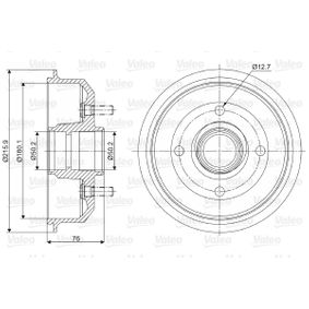 Brake Drum Outer Br. Sh. Diameter: 215,9mm with OEM Number 6 492 327