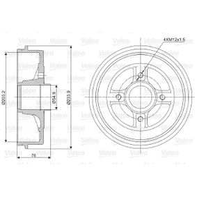 Tambor de freno Diám. ext. tambor: 233,9mm con OEM número 7700304984