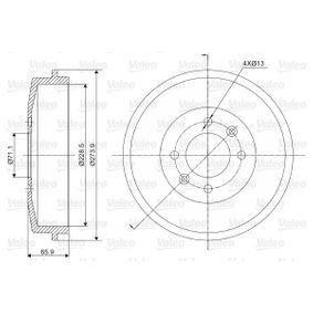 Bremstrommel Br.Tr.Durchmesser außen: 273,9mm mit OEM-Nummer 424724