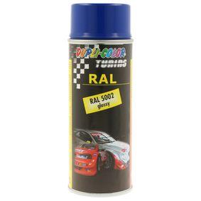 RAL-Spraydosen DUPLI COLOR 238086 für Auto (Sprühdose, 5002, Inhalt: 400ml, SPRAY PAINT RAL 5002 gl. 400)
