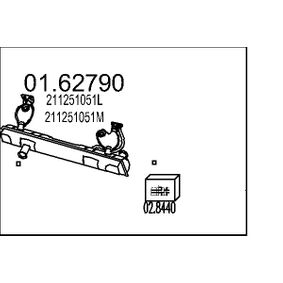 Endschalldämpfer mit OEM-Nummer 211251051T