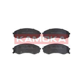 Bremsbelagsatz, Scheibenbremse Breite: 165mm, Höhe: 63mm, Dicke/Stärke: 17,6mm mit OEM-Nummer 581014DE00