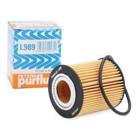 PURFLUX  L989 Ölfilter Ø: 63mm, Innendurchmesser: 31mm, Höhe: 68mm