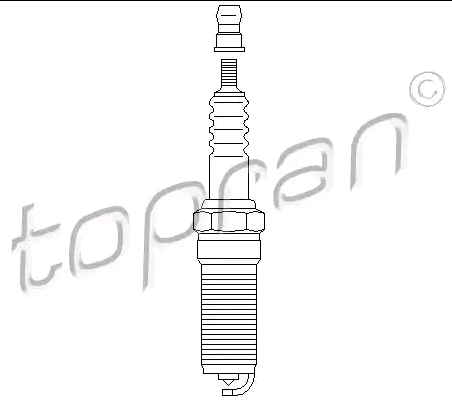 Spark Plug 300 845 TOPRAN 14KR6ZPPV original quality