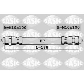 Bremsschlauch Länge: 188mm, Gewindemaß 1: M10X100, Gewindemaß 2: M10X100 mit OEM-Nummer 7700416273
