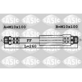 Bremsschlauch Länge: 260mm, Gewindemaß 2: M10X100 mit OEM-Nummer 1K0 611 775 C