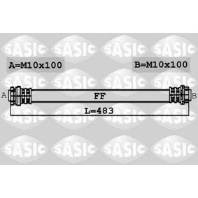Bremsschlauch Länge: 483mm, Gewindemaß 2: M10X100 mit OEM-Nummer 1 304 007