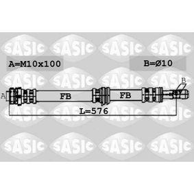 Bremsschlauch Länge: 576mm, Gewindemaß 1: M10X100, Innengewinde 1: 10mm mit OEM-Nummer 1K0.611.701B