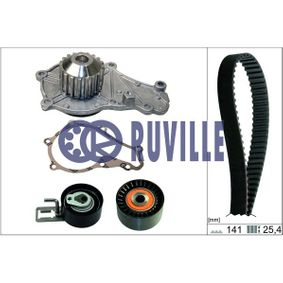 Water pump and timing belt kit with OEM Number AV6Q8B596AB