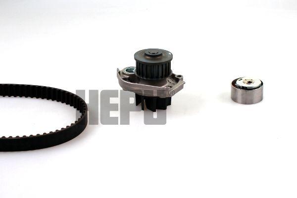 HEPU  PK12011 Waterpomp + distributieriem set Breedte 2 [mm]: 22mm